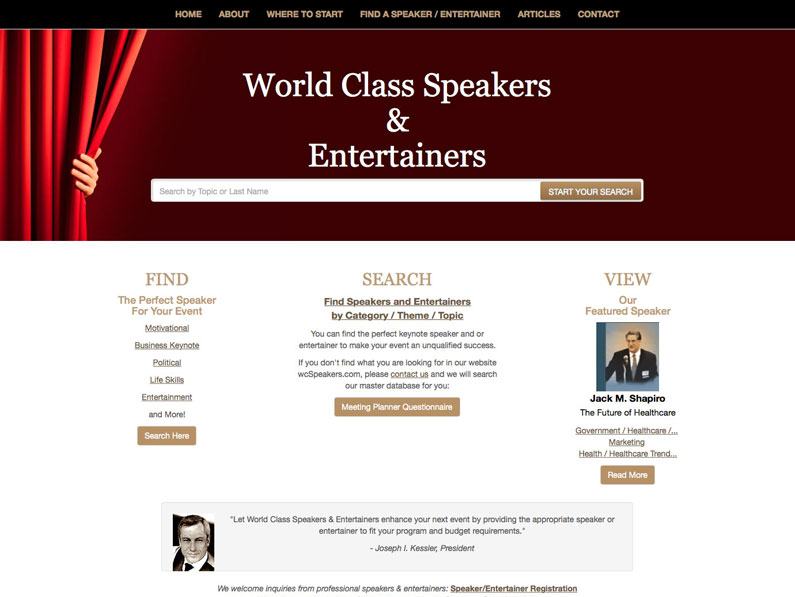 World Class Speakers & Entertainers