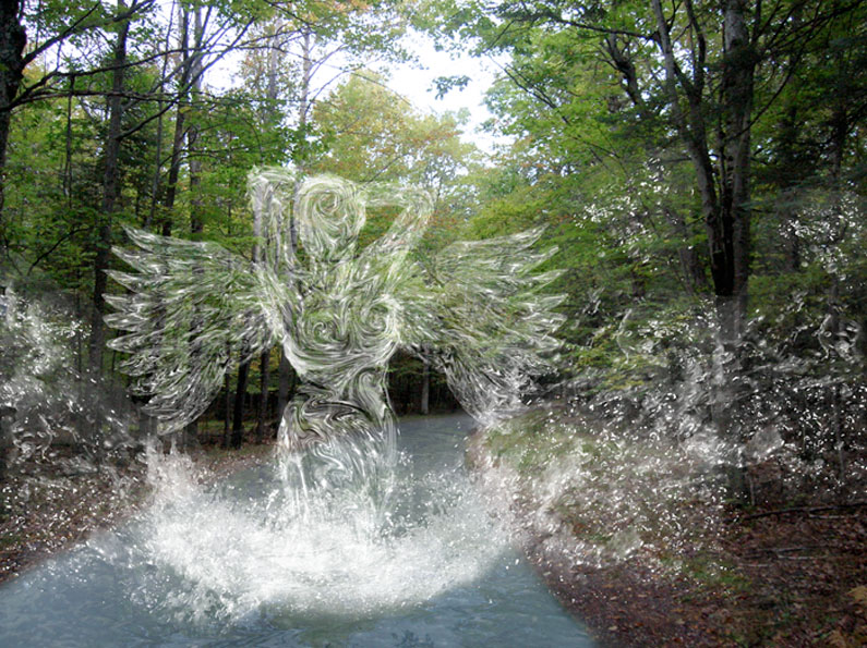 Water angel image manipulation made with Photoshop