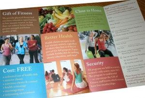 Gift of Fitness brochure - inside content, created by Sherry Sink Web Design