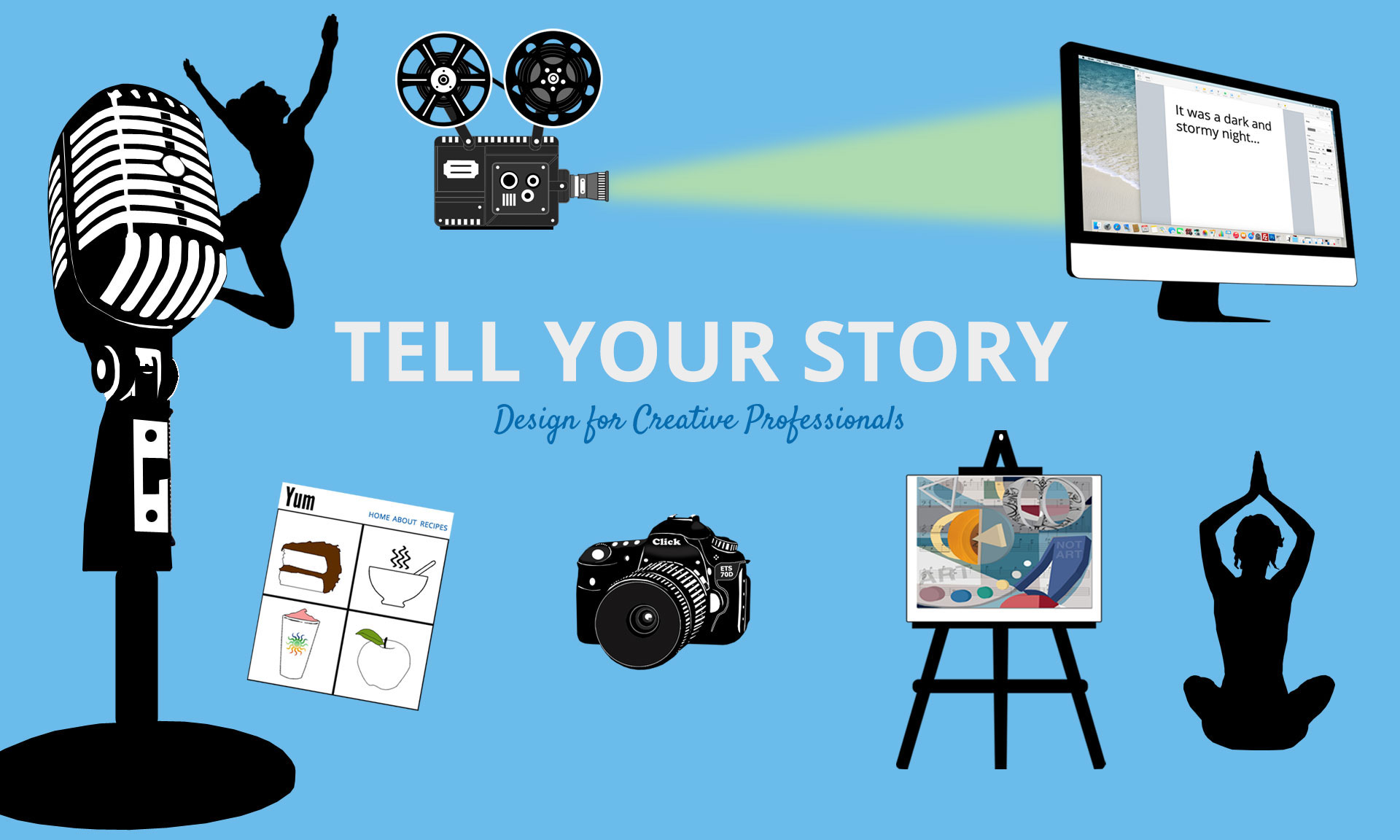 TELL YOUR STORY - Sherry Sink Web Design for Creative Professionals